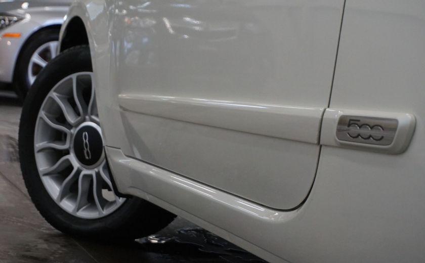 2014 Fiat 500c Lounge Cabriolet (sonar-cuir) #34