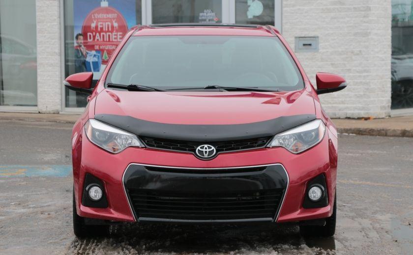 2014 Toyota Corolla S CVT CUIR-TISSUS TOIT BLUETOOTH HID #1