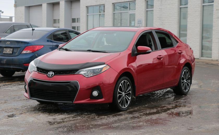 2014 Toyota Corolla S CVT CUIR-TISSUS TOIT BLUETOOTH HID #2