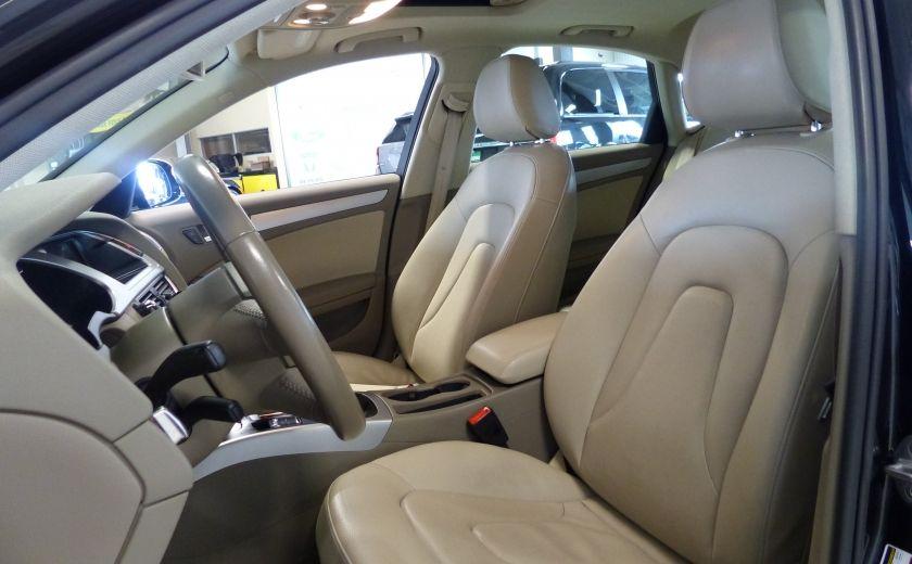 2012 Audi A4 2.0T Quattro AWD  (toit-cuir) A/C Gr-Électrique #9
