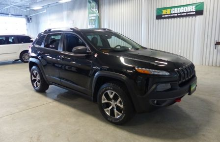2016 Jeep Cherokee Trailhawk 4X4 V6 A/C (Cuir-Toit pano-Mags) in New Richmond