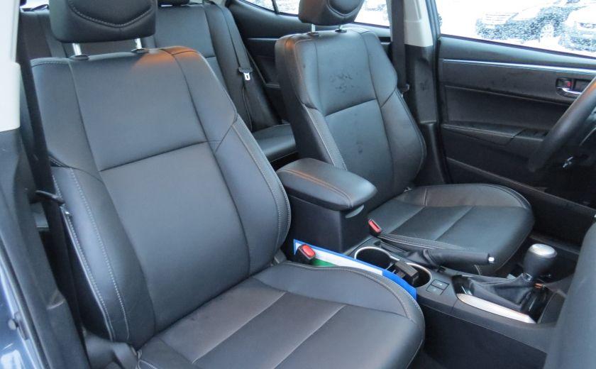 2014 Toyota Corolla S AUT A/C CUIR MAGS CAMERA TOIT GR ELECTRIQUE #28