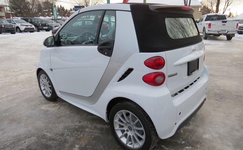 2013 Smart Fortwo Passion Cabriolet AUT A/C MAGS GR ELECTRIQUE #4