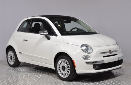 2015 Fiat 500c LOUNGE CONVERTIBLE CUIR A/C AUTO BLUETOOTH AUDIO P #0