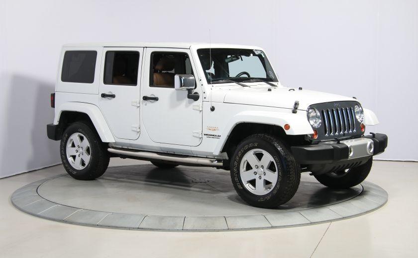 2012 Jeep Wrangler Sahara 4WD AUTO A/C CUIR 2TOITS MAGS #0