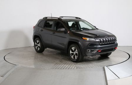 2016 Jeep Cherokee TRAILHAWK V6 4WD CUIR/TISSU TOIT PANORAMIQUE NAVIG #0