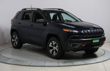 2016 Jeep Cherokee TRAILHAWK 4WD AUTO A/C CUIR TOIT PANO NAV MAGS BLU #0