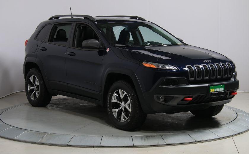 2016 Jeep Cherokee TRAILHAWK 4WD AUTO A/C CUIR TOIT PANO NAV MAGS BLU #0