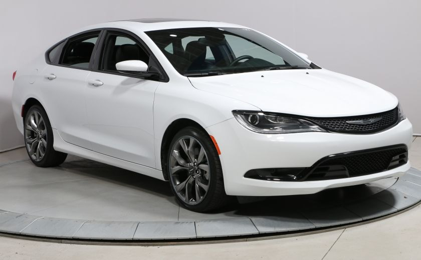 2016 Chrysler 200 S GPS Cuir Pano Demarreur Bluetooth UConnect #0