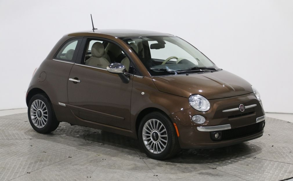 2013 Fiat 500 Lounge CUIR TOIT MAGS BLUETOOTH #0