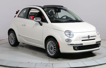 2012 Fiat 500 Lounge A/C GR ELECT CUIR DÉCAPOTABLE MAGS BLUETOOT #0