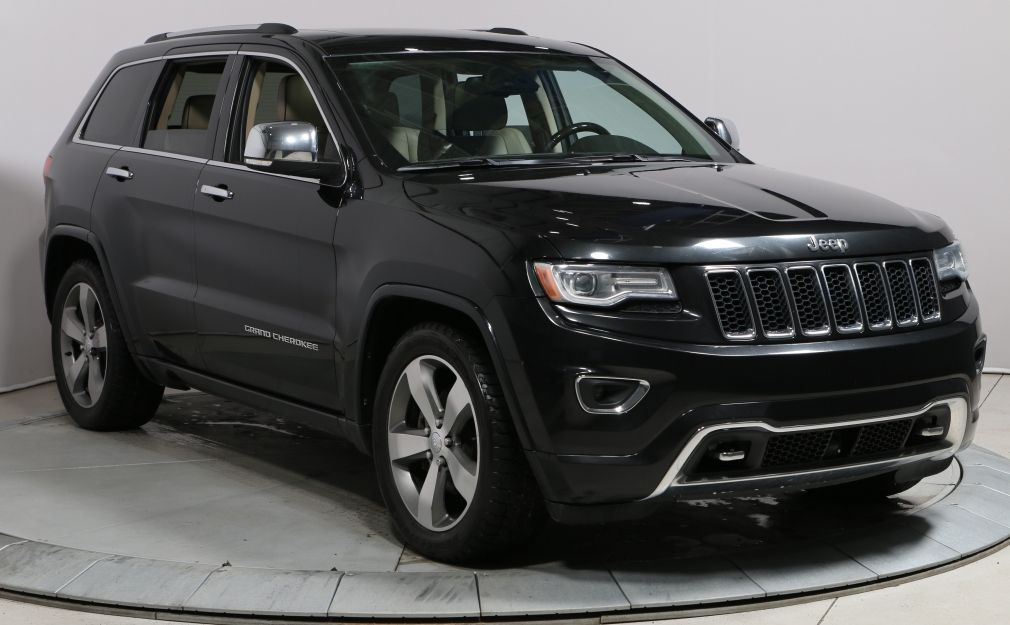 2014 Jeep Grand Cherokee Overland 4WD CUIR TOIT NAV MAGS BLUETOOTH HAYON.EL #0