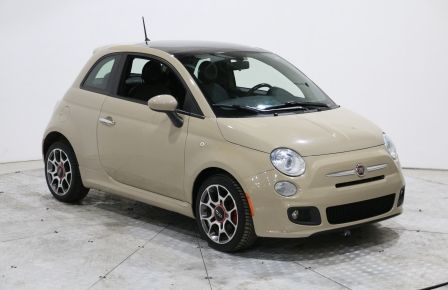 2012 Fiat 500 Sport AUTO A/C CUIR TOIT MAGS BLUETOOTH #0