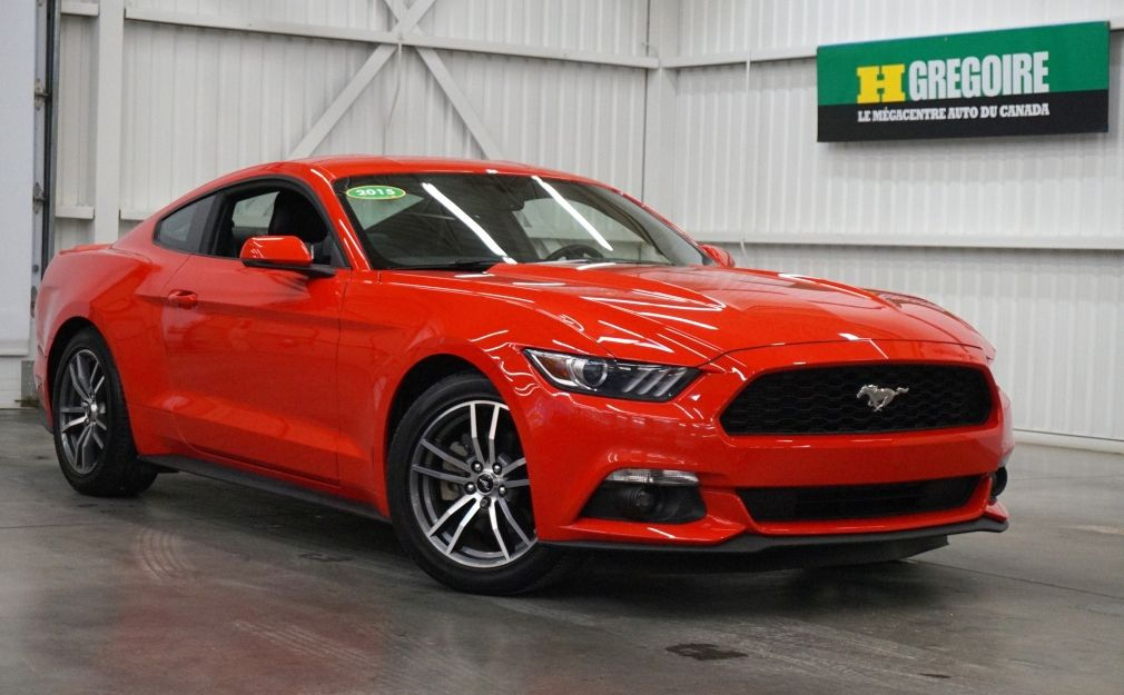 2015 Ford Mustang EcoBoost Premium AUT A/C MAGS CUIR CAMERA BLUETOOT #0