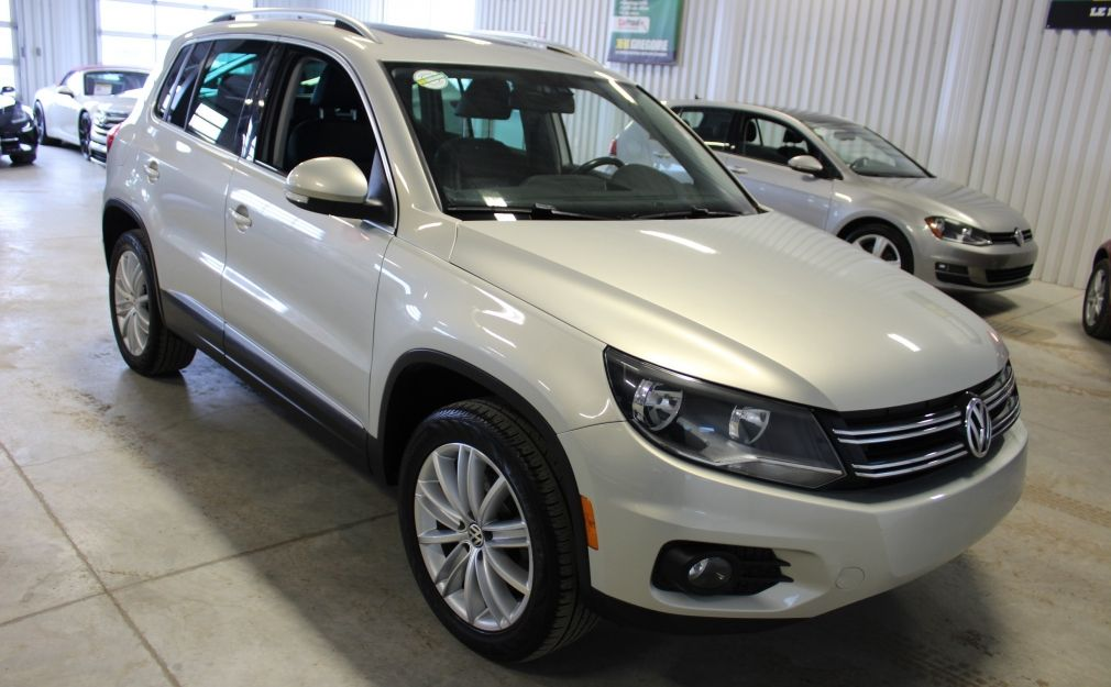 2013 Volkswagen Tiguan Highline AWD Cuir Toit-Ouvrant Mags #0