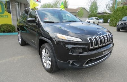 2015 Jeep Cherokee Limited AUT V6 AWD CUIR MAGS TOIT CAMERA NAVI .... #0