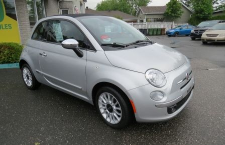 2012 Fiat 500c Lounge MAN A/C MAGS CUIRBLUETOOTH GR ELECTRIQUE #0